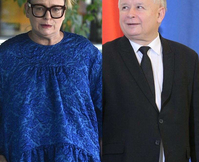 Katarzyna Nosowska i Jarosław Kaczyński /MWMedia /MWMedia