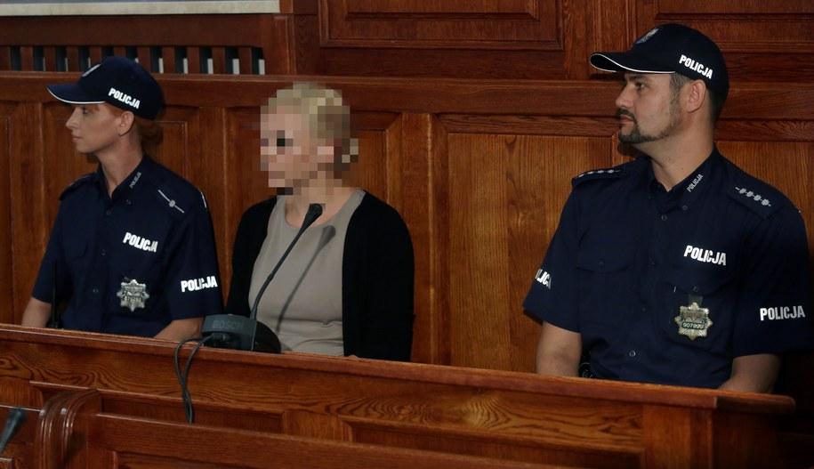 Katarzyna P. w sądzie (zdj. arch.) / Tomasz Gzell    /PAP