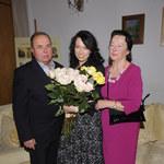 Katarzyna Pakosińska z rodzicami