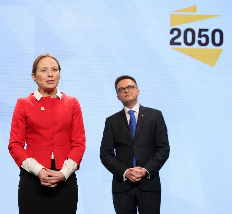 Katarzyna Pełczyńska-Nałęcz i Szymon Hołownia /Piotr Molecki /East News