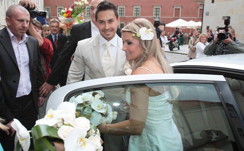 Katarzyna Skrzynecka i Marcin Łopucki przygotowują się do ślubu kościelnego /East News