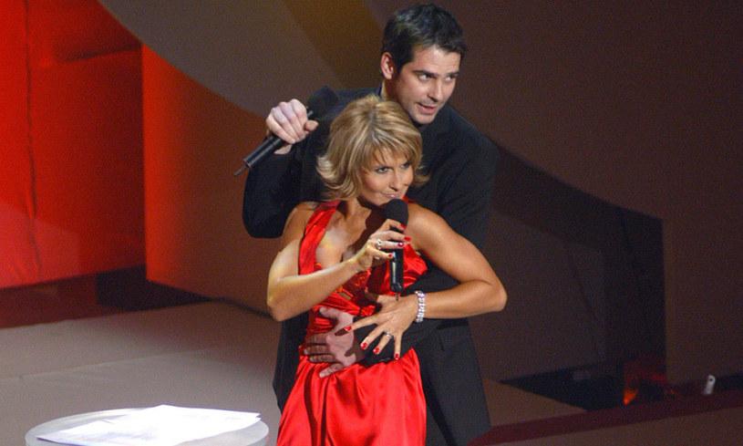 Katarzyna Skrzynecka i Paweł Deląg, 2005 rok /Prończyk /AKPA