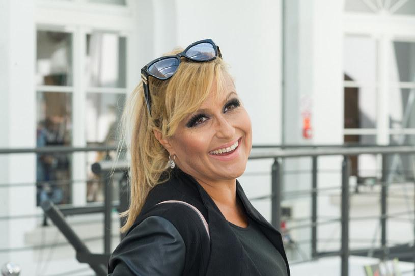 """Katarzyna Skrzynecka podczas """"EKO Pokazu Mody na Sprzątanie Świata"""" /Artur Zawadzki /Reporter"""