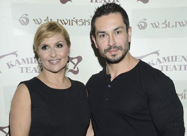 Katarzyna Skrzynecka z mężem /MWMedia