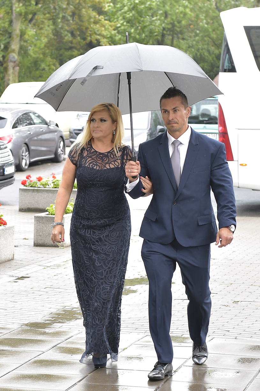 Katarzyna Skrzynecka z mężem / Jacek Kurnikowski /AKPA