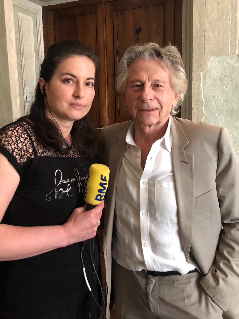 Katarzyna Sobiechowska-Szuchta i Roman Polański podczas spotkania w Krakowie /RMF FM