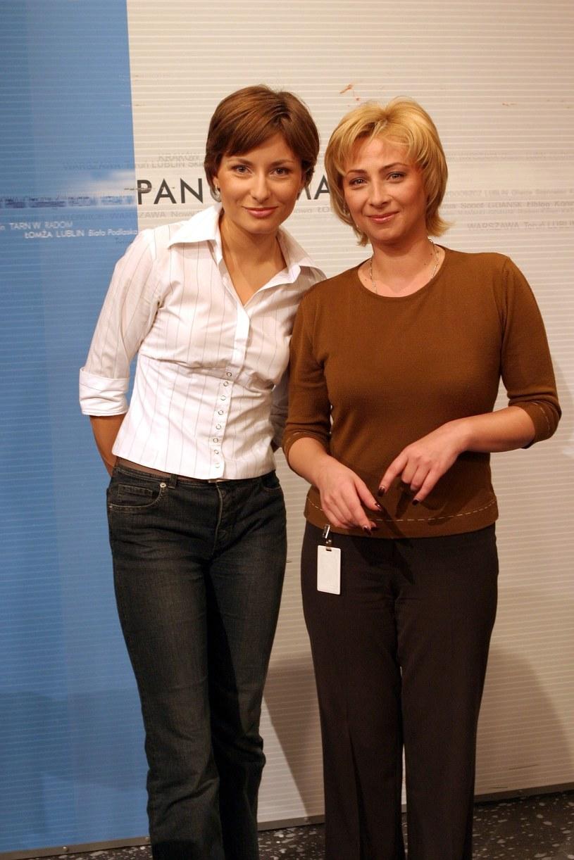 Katarzyna Trzaskalska i Agnieszka Dymecka - rok 2003 /Piotr Fotek /Reporter