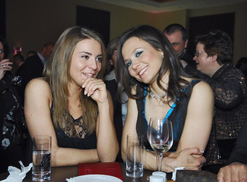 Katarzyna Tusk i Kinga Rusin w 2007 roku /East News