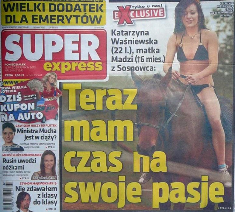 Katarzyna W. gościła na okładce tabloidu /materiał zewnętrzny