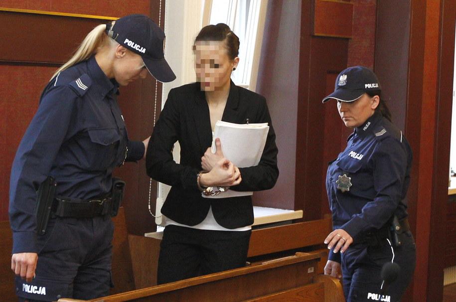 Katarzyna W. na sali rozpraw Sądu Apelacyjnego w Katowicach /Andrzej Grygiel /PAP