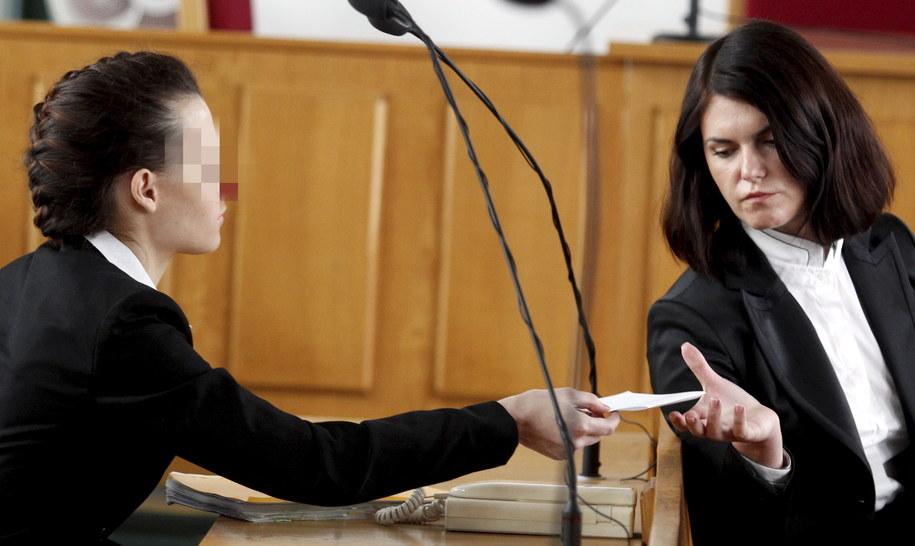 Katarzyna W. na sali rozpraw /Andrzej Grygiel /PAP