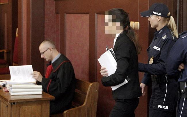 Katarzyna W. podczas rozprawy /Andrzej Grygiel /PAP