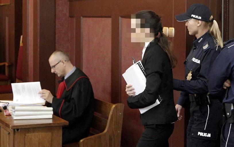 Katarzyna W. podczas swojej rozprawy odwoławczej przed Sądem Apelacyjnym w Katowicach /Andrzej Grygiel /PAP