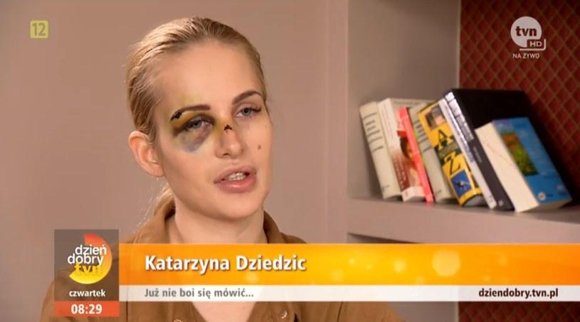 """Katarzyna w programie """"Dzień Dobry TVN"""" opowiedziała o całym zajściu /Dzień Dobry TVN/ x-news /materiał zewnętrzny"""