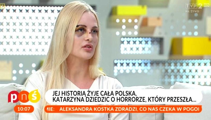 """Katarzyna w programie """"Pytanie na śniadanie"""" /TVP / Pytanie na śniadanie /materiał zewnętrzny"""