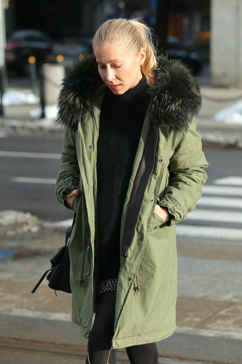 Katarzyna Warnke w kurtce z futerkiem / VIPHOTO/East News /East News