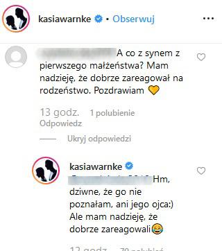 Katarzyna Warnke zdementowała doniesienia /Instagram