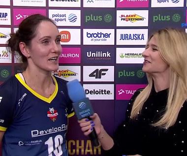 Katarzyna Wenerska: Kluczem była dobra zagrywka. WIDEO (Polsat Sport)