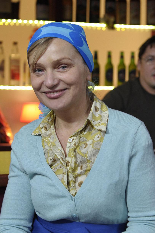 """Katarzyna Żak jako Sulejkowa na planie """"Ranczo"""" /AKPA"""