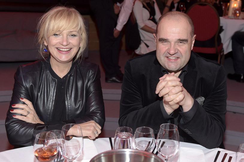 Katarzyna Żak z mężem Cezarym Żakiem /AKPA