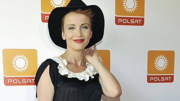 """Katarzyna Zielińska na konferencji serialu """"Przyjaciółki"""" /Niemiec /AKPA"""