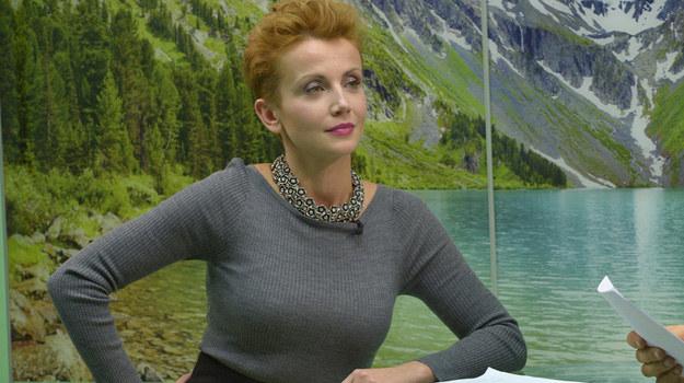 """Katarzyna Zielińska na planie serialu """"to nie koniec świata!"""" /Gałązka /AKPA"""
