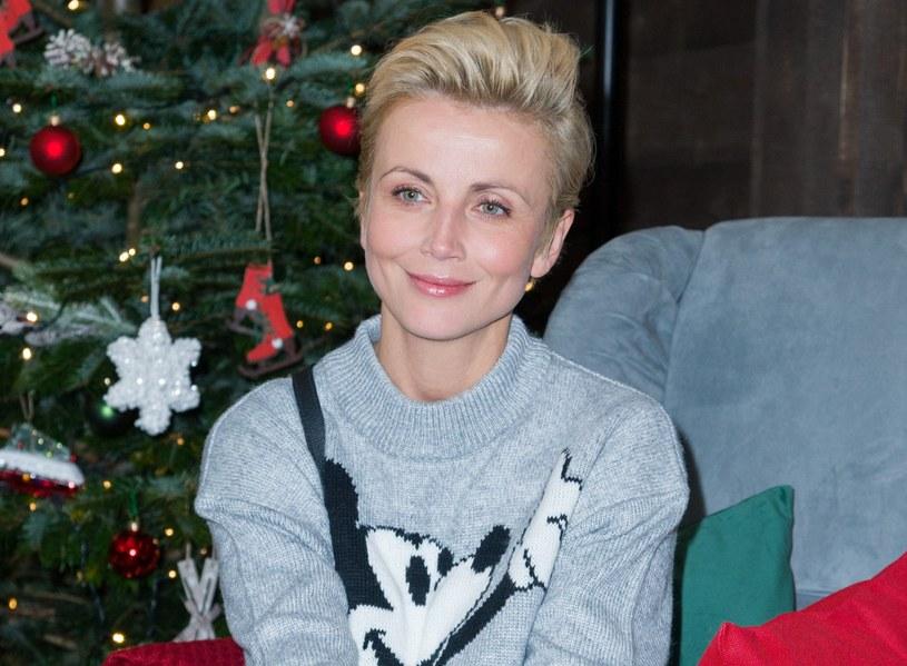 Katarzyna Zielińska na spotkaniu świątecznym w 2018 roku /Artur Zawadzki /Reporter