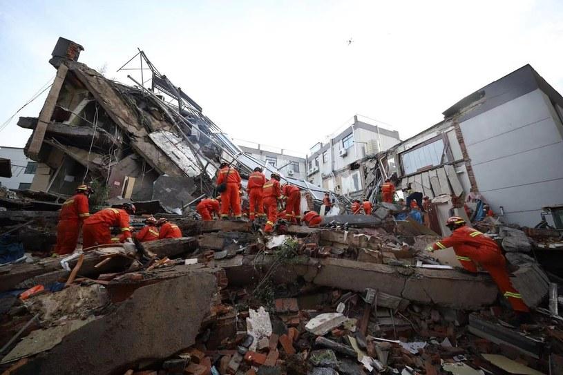 Katastrofa budowlana w Chinach. Zawalił się hotel /Xinhua News /East News