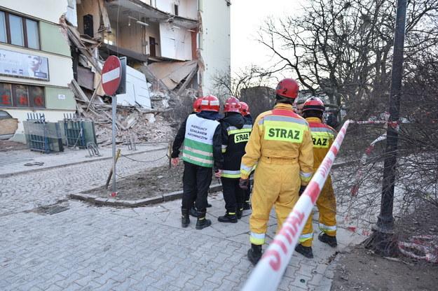 Katastrofa budowlana w Łodzi /PAP/Grzegorz Michałowski /PAP