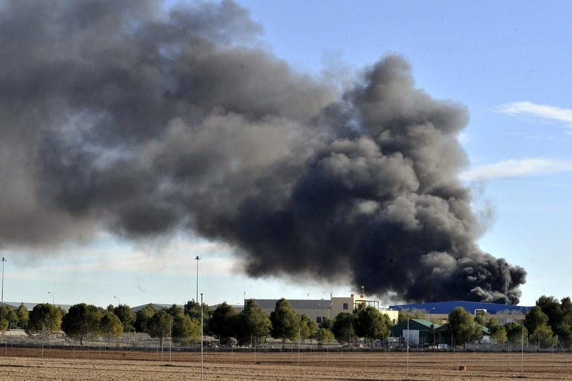Katastrofa greckiego myśliwca F-16 /PAP/EPA
