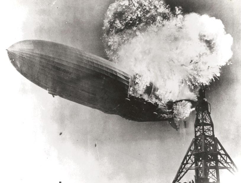 Katastrofa Hindenburga,   6 maja 1937 roku. Fot. Gus Pasquerella/Wikipedia /Wikipedia