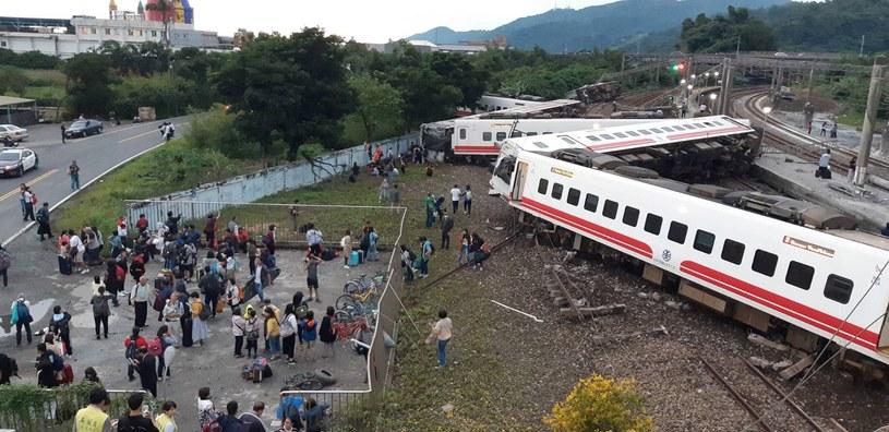 Katastrofa kolejowa na Tajwanie AFP