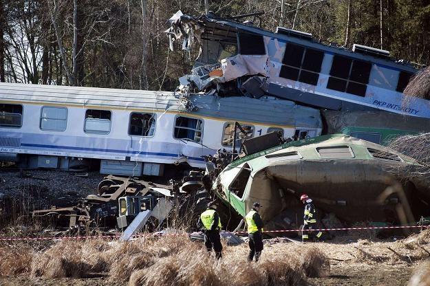 Katastrofa kolejowa pod Szczekocinami /AFP