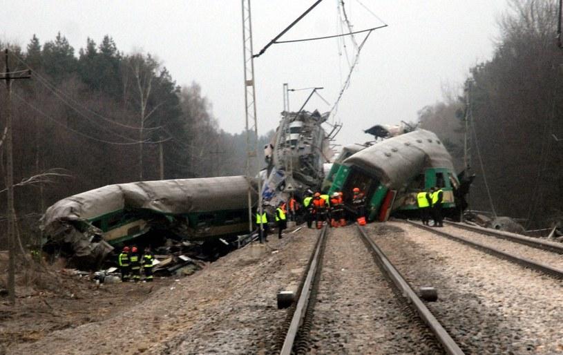 Katastrofa kolejowa pod Szczekocinami /Marek Lasyk  /Reporter