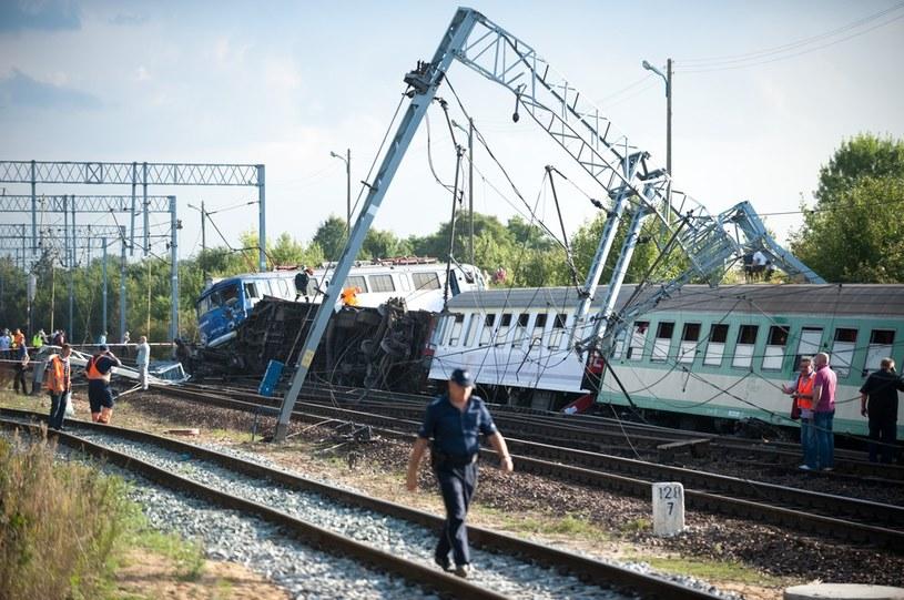 Katastrofa kolejowa w Babach /Łukasz Szeląg /Reporter