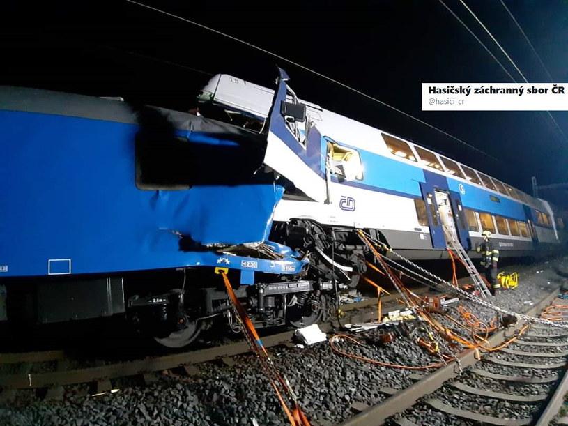 Katastrofa kolejowa w Czechach /Twitter