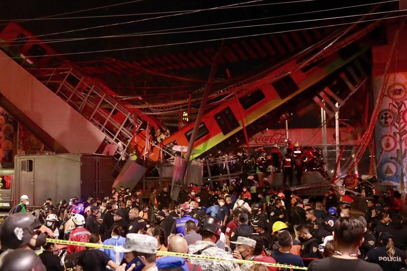 Katastrofa kolejowa w Meksyku /Carlos Ramirez /PAP/EPA