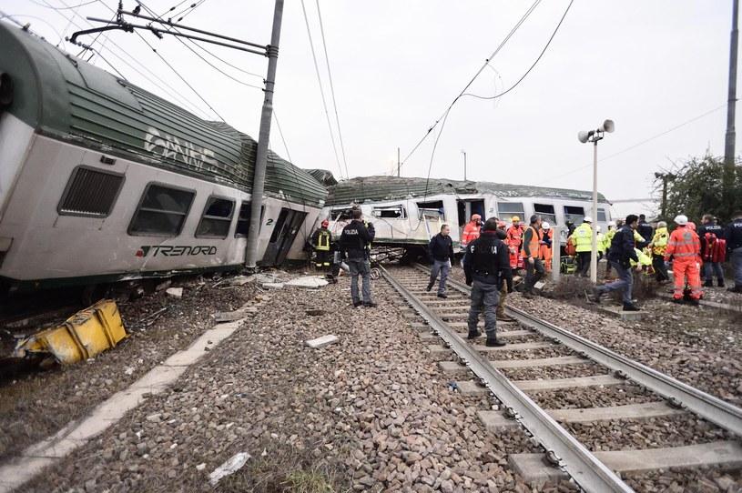 Katastrofa kolejowa we Włoszech /FLAVIO LOSCALZO /PAP/EPA