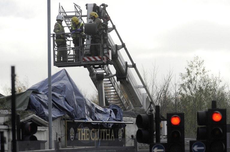 Katastrofa lotnicza w Glasgow /AFP