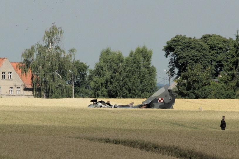 Katastrofa MIG-29 koło Pasłęka /PAP