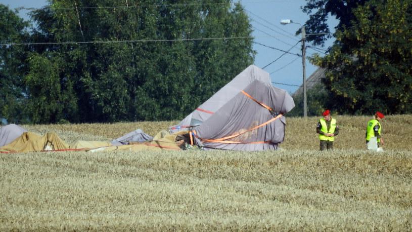 Katastrofa MiG-29 pod Pasłękiem /Stanislaw Bielski /Reporter