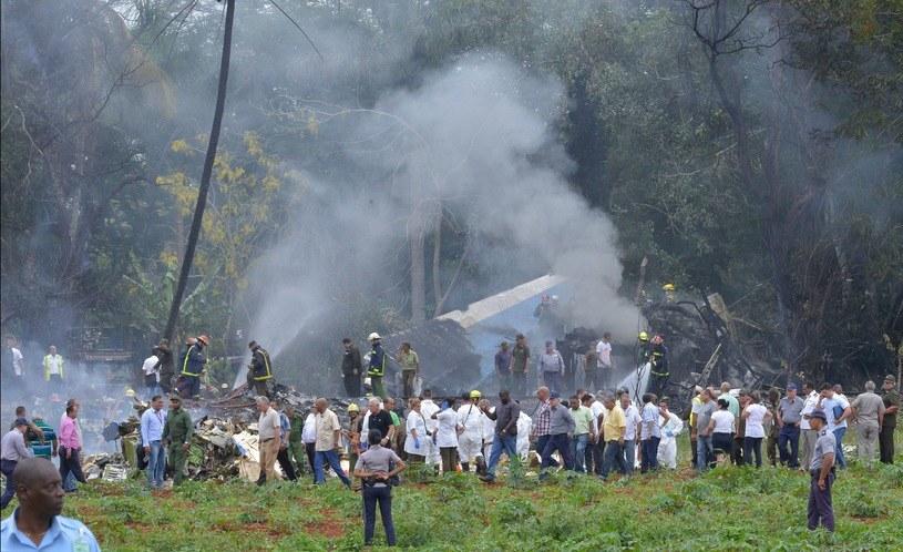 Katastrofa samolotu w Hawanie /AFP