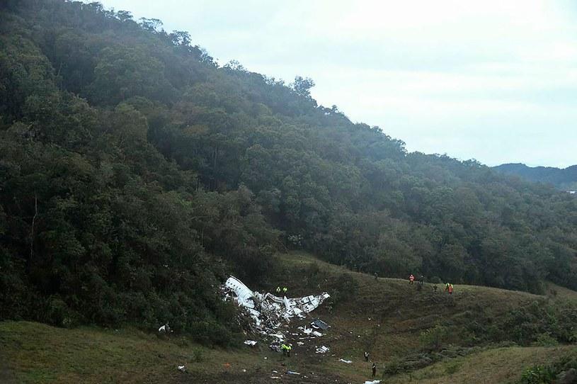 Katastrofa samolotu z piłkarzami Chapecoense /AFP