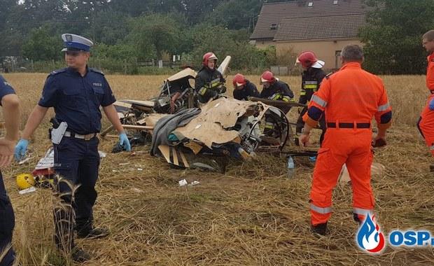 Katastrofa śmigłowca na Opolszczyźnie. Dwie osoby nie żyją