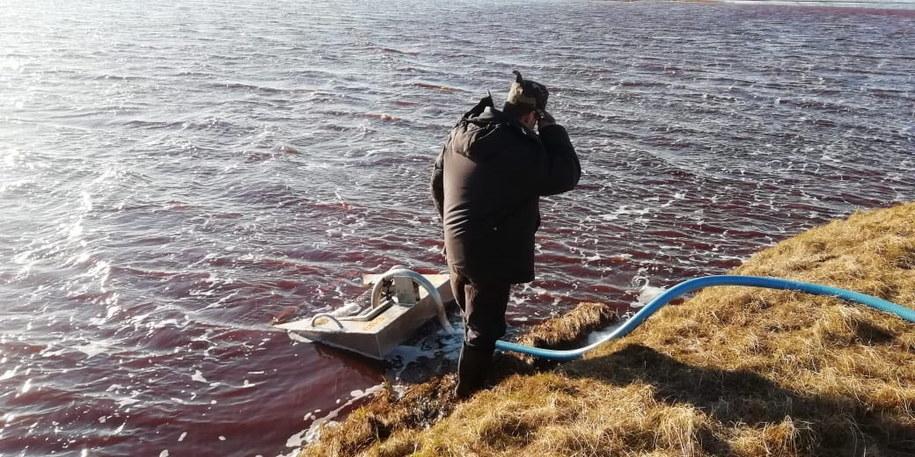 Katastrofa w Norylsku może być największym skażeniem w rosyjskiej Arktyce /Marine Rescue Service press service / HANDOUT /PAP/EPA
