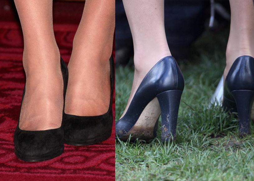 Kate chętnie wybiera klasyczne czółenka na obcasie, nawet jeśli ma chodzić po trawie  /Getty Images/Flash Press Media