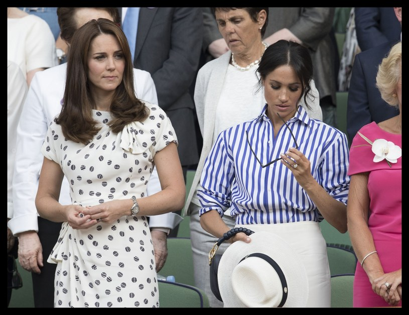 Kate i Meghan na Wimbledonie /Stephen Lock / i-Images /East News