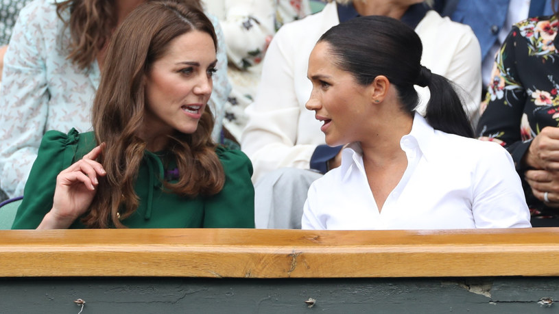 Kate i Meghan na Wimbledonie /Stephen Lock / i-Images /East News