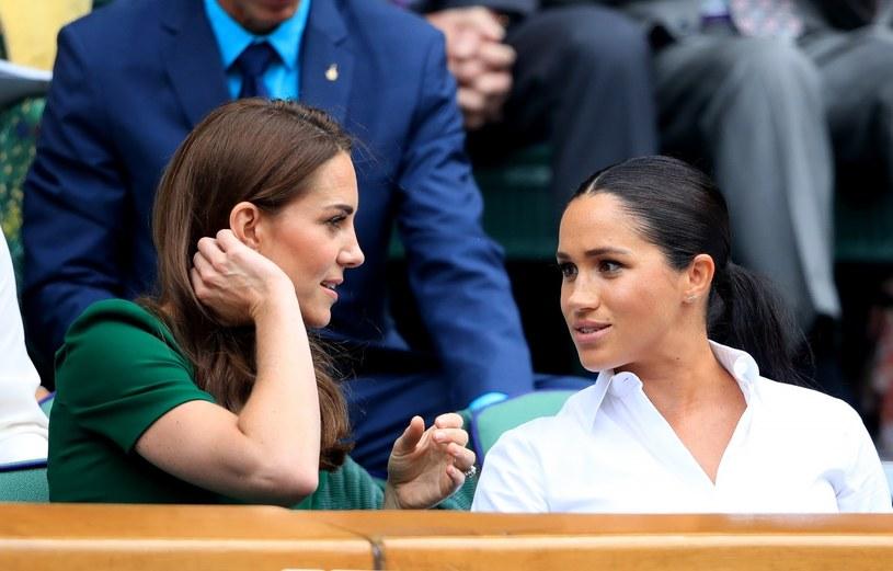 Kate i Meghan na Wimbledonie /Adam Davy /East News