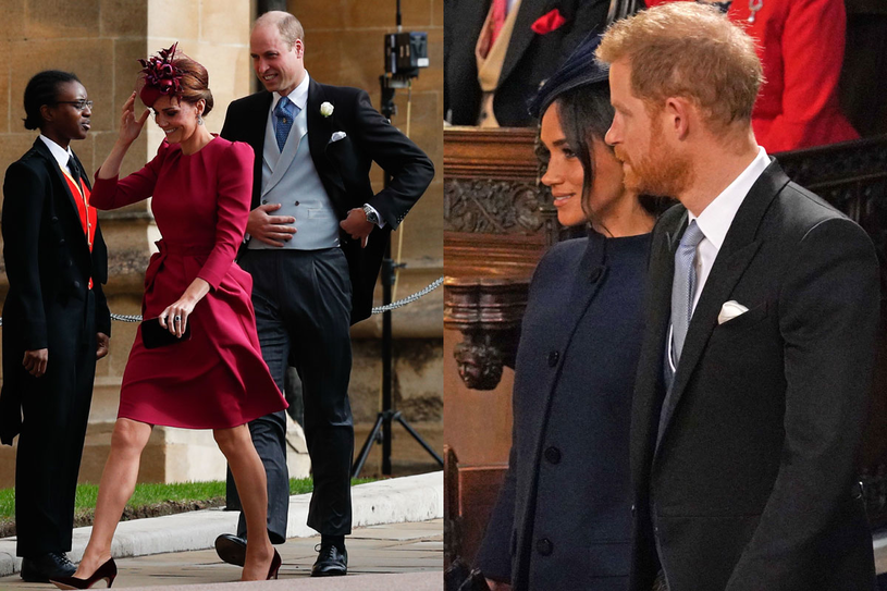 Kate i William oraz Meghan i Harry /AFP